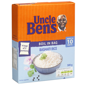 Uncle Bens - Boilin Bag Rice - 500g
