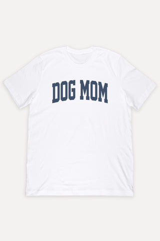 Dog Mom College Navy Shirt