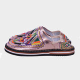 Tea Silver Tribal Moroccan Berber Shoes