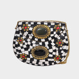 Mosaica Checkerboard Mosaic Crossbody Clutch