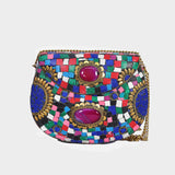 Mosaica Opalesque Mosaic Crossbody Clutch
