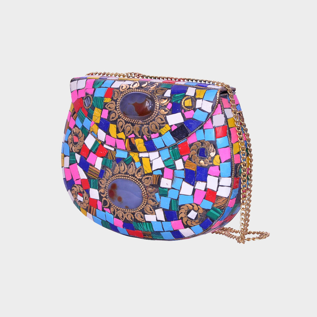 Mosaica Rainbow Hard Covered Crossbody Shell
