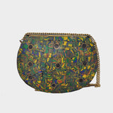 Mosaica Savanna Green Mosaic Crossbody Clutch