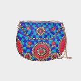 Mosaica Teal Hard Covered Crossbody Shell