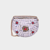 Mosaica Mini Clair Stone Covered Crossbody Shell