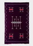 "3'8"" x 6'1"" Wine Purple Berber Tribal Kilim Moroccan Rug"