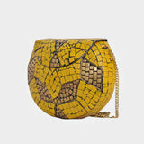 Mosaica Yellow Falcon Mosaic Crossbody Clutch