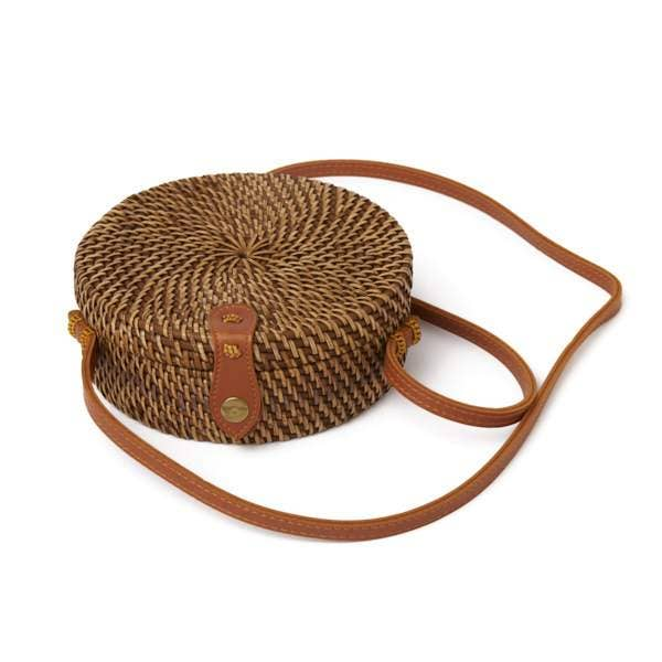 Rattan Cantina Purse - Coffee