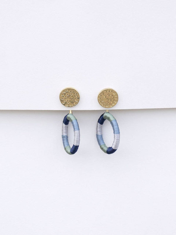 Blue Vibrant Threads Studs