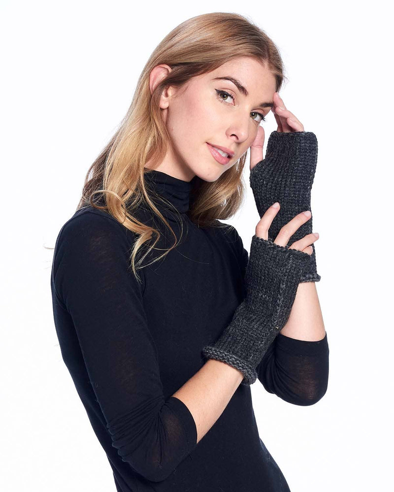 Alpaca Gloves - Rustic - Carbon