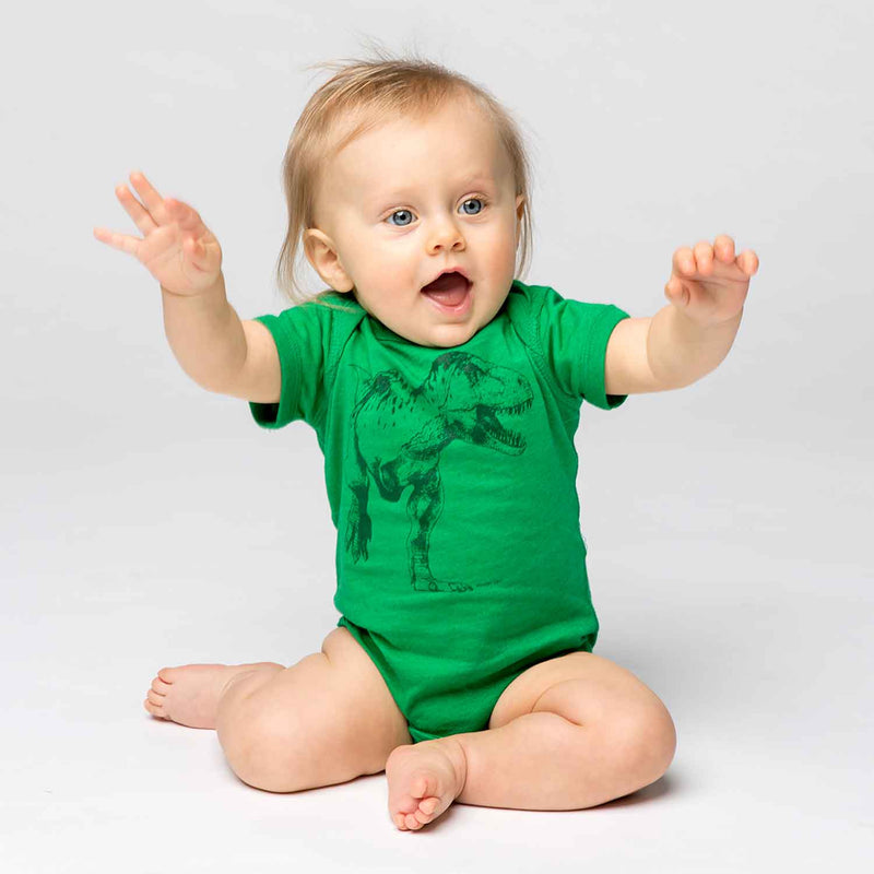 T-Rex Baby One Piece - Green