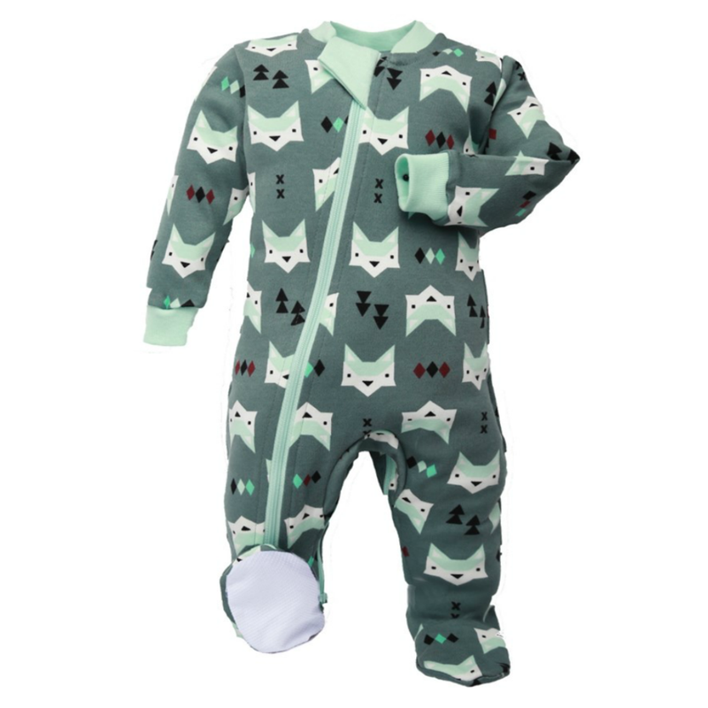 Quiet Fox - Footed Babysuit