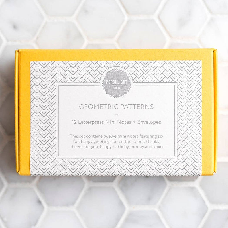 Geometric Mini Note - Tiny Box Set of 12