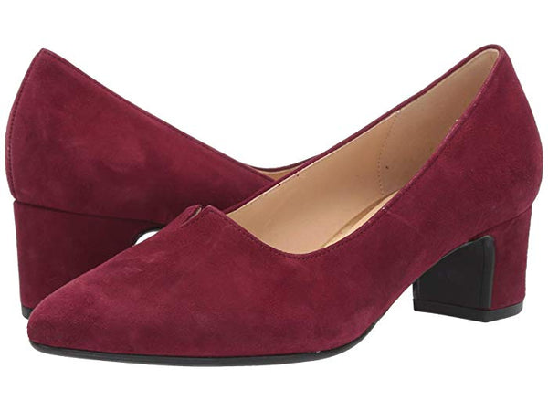 Gabor Wine Suede Pump