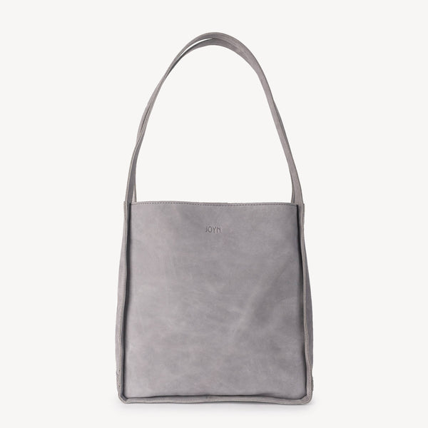 Travel Tote Bag Grey Nubuck Leather