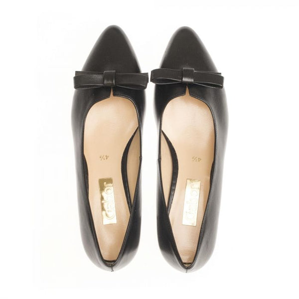 Gabor Leather Bow Pump