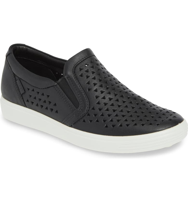 Ecco Soft 7 Slip On Perf Sneaker