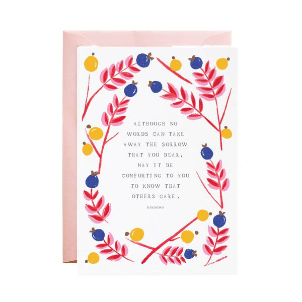 I am with You - Sympathy Greeting Card