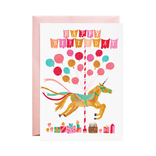 Unicorn Coming to My Party? Birthday Greeting Card