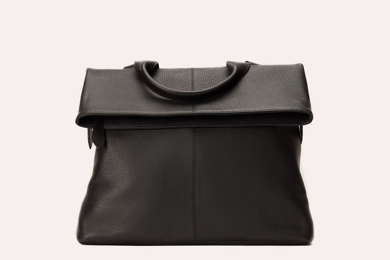 Kiko Leather Fold N Go Leather Backpack