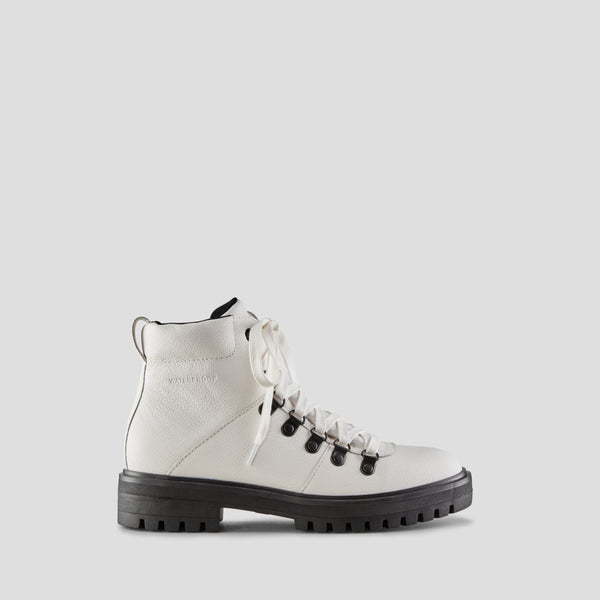 Cougar Nash Mid-Calf White Leather Waterproof Boot