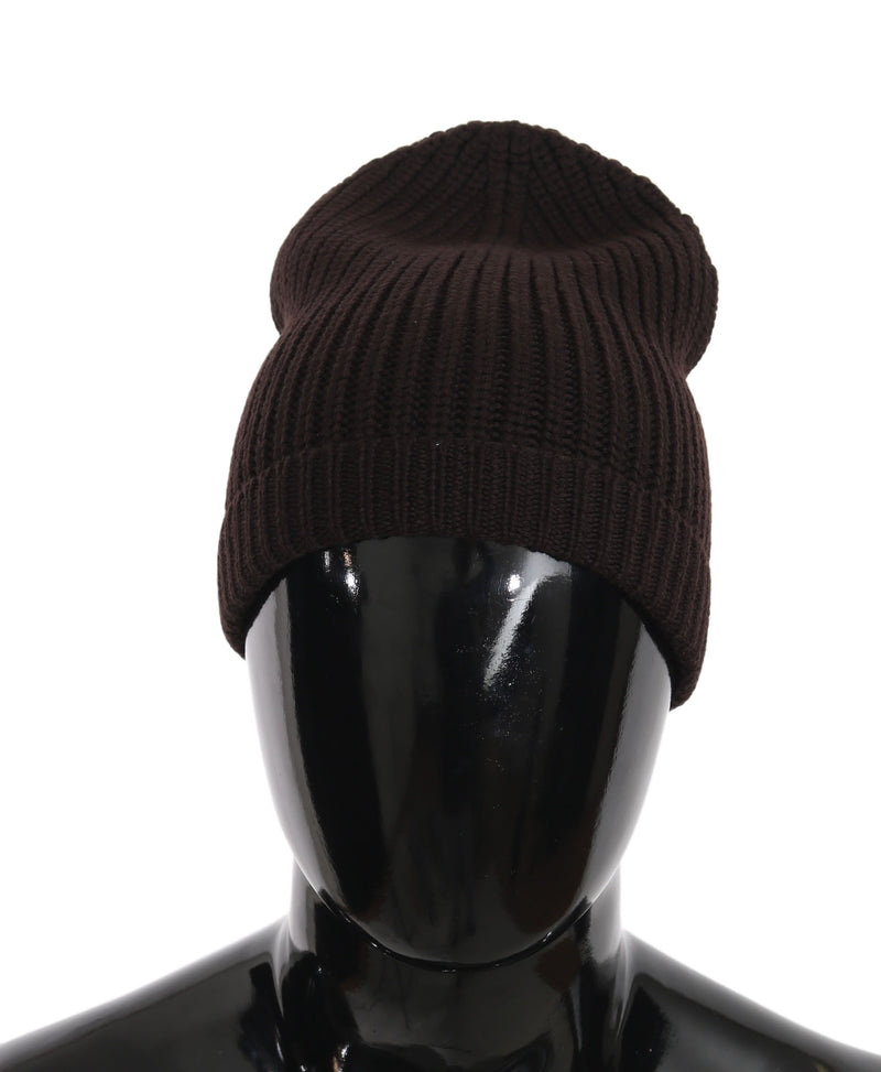 Brown Beanie Wool Knitted Winter Warm Hat