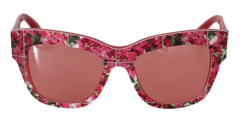 Pink DG4231 Floral Pattern Butterfly Sunglasses
