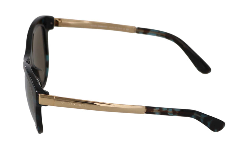 Black Blue DG4243F Butterfly Gold Mirrored Sunglasses