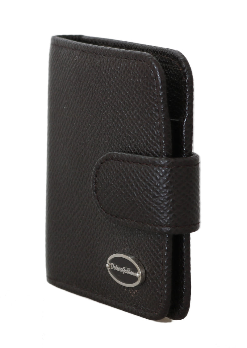Brown Dauphine Leather Condom Case Holder