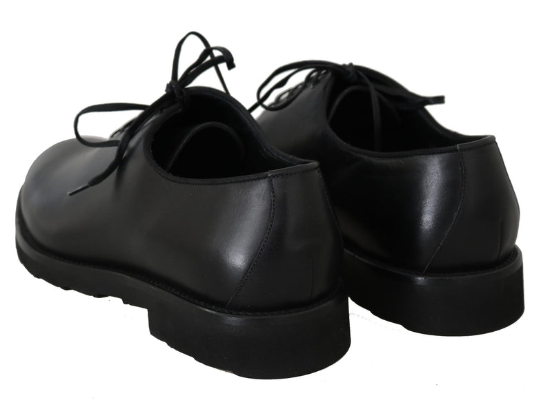 Black Formal Leather Laceups Dress  Mens Shoes