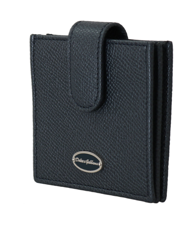 Blue Dauphine Leather Pocket Condom Case Holder