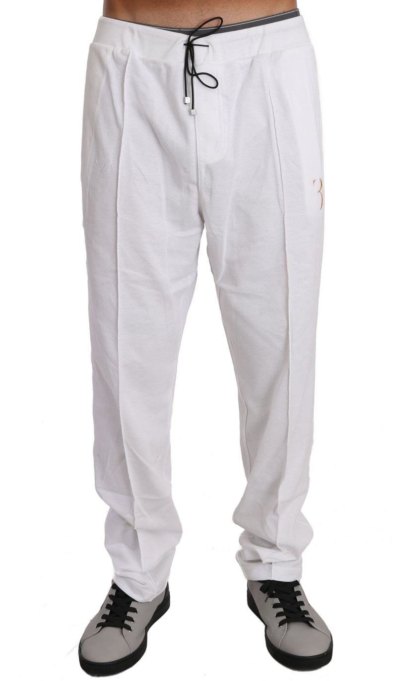 White Cotton Sweater Pants  Tracksuit