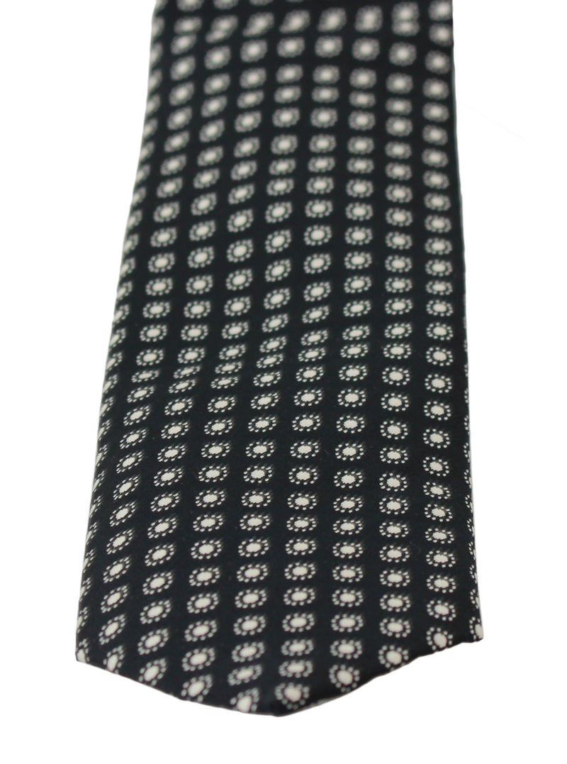 Black Patterned Classic Mens Slim Necktie Tie