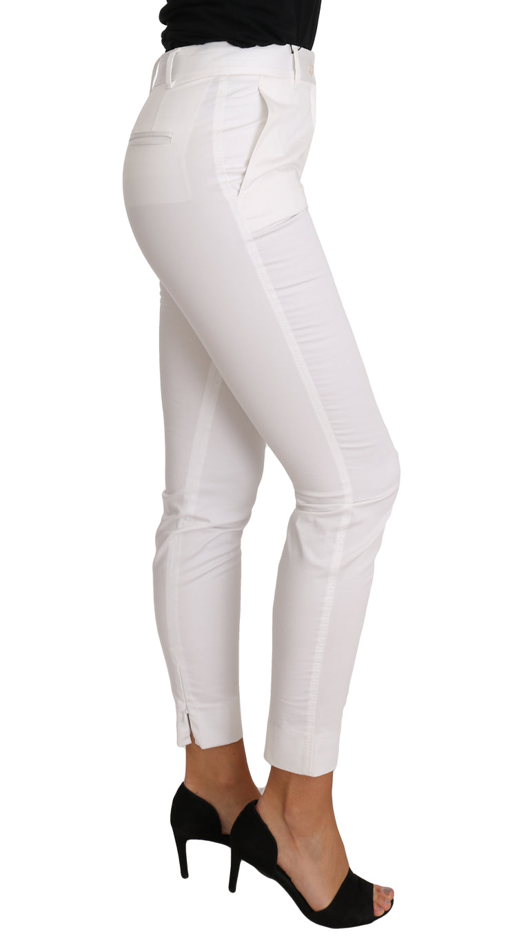 White Dress Pants Slim Skinny Pant