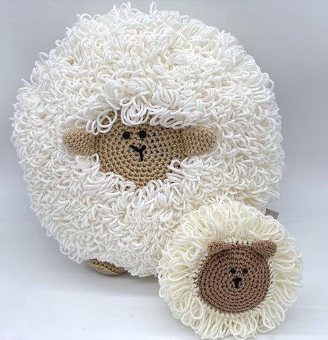 Sheep Pillow and Amigurumi by Sharpin Designs