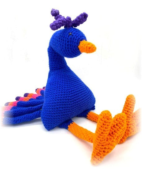 Bird Buddy Peacock Crochet Pattern by Sharpin Designs