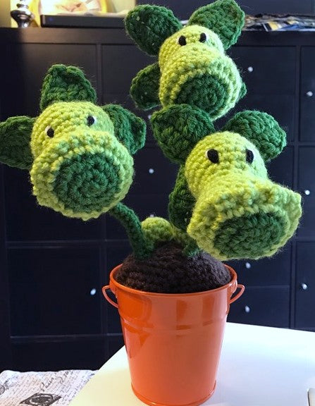 Plant Creature crocheted by Sharpin Designs