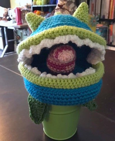 Chomper crocheted by Sharpin Designs