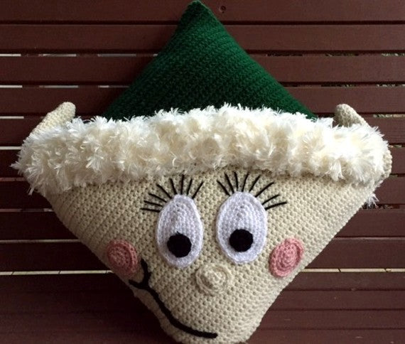 Elf Pillow Crochet Pattern by Sharpin Designs