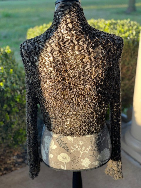 Lacey Crochet Shrug by Sharpin Designs