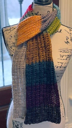 MadTosh Advent Calendar 2020 Scarf by Sharpin Designs