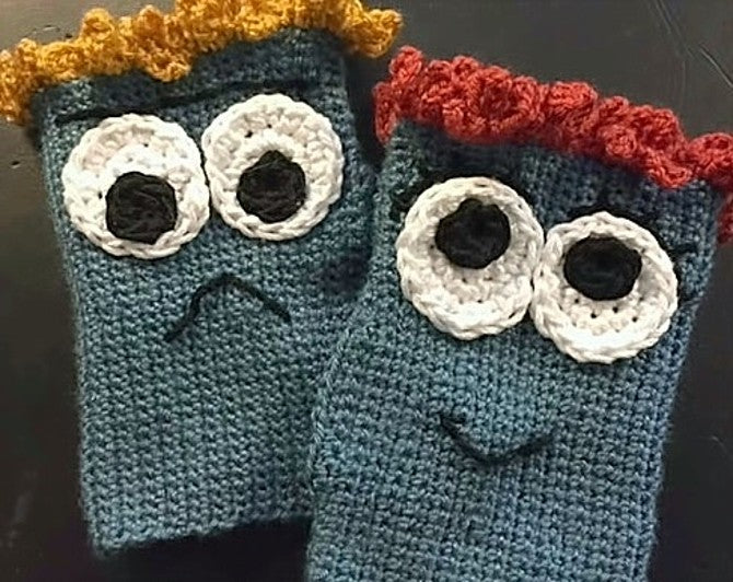 Monster Mitts Crochet Pattern by Sharpin Designs