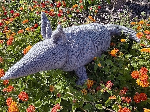 Armadillo Pillow Crochet Pattern by Sharpin Designs