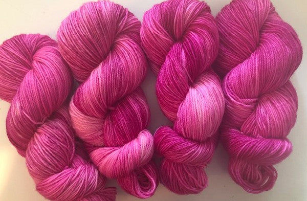Friday Night Fibers Pink Lady Yarn by Sharpin Designs