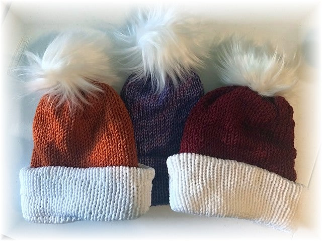 Pom Pom Knit Hats by Sharpin Designs