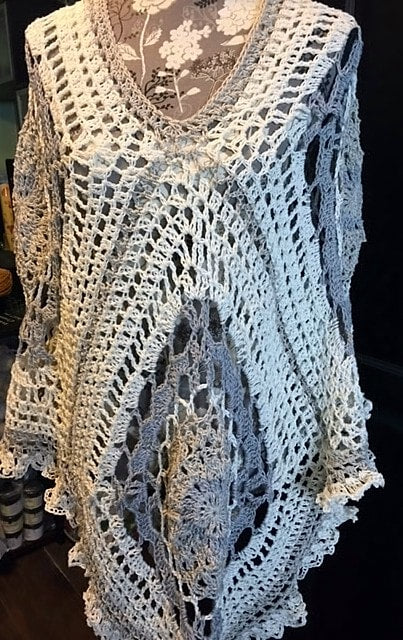Midsummer Joy Crochet Poncho Pattern