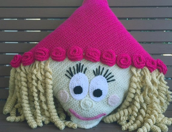 Princess Pillow Crochet Pattern by Sharpin Designs