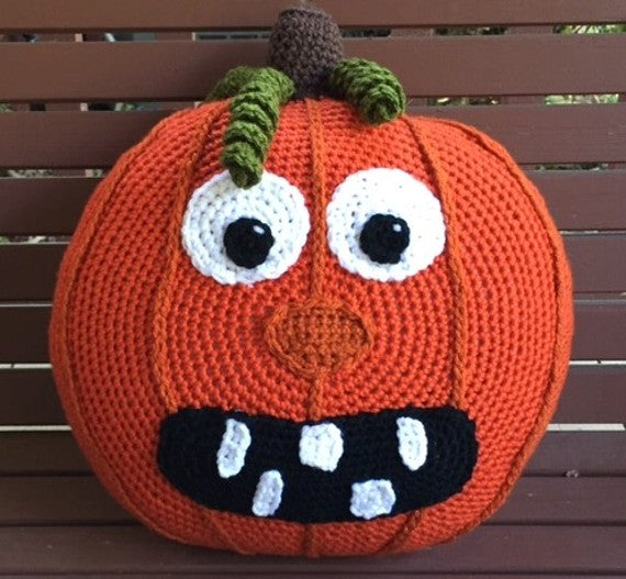 Pumpkin Jack Crochet Pillow Pattern by Sharpin Designs