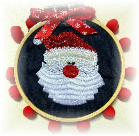 Santa Claus Embroidered Ornament