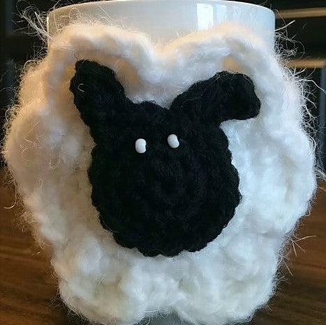 Sheep Mug Cozy Crochet Pattern by Sharpin Designs